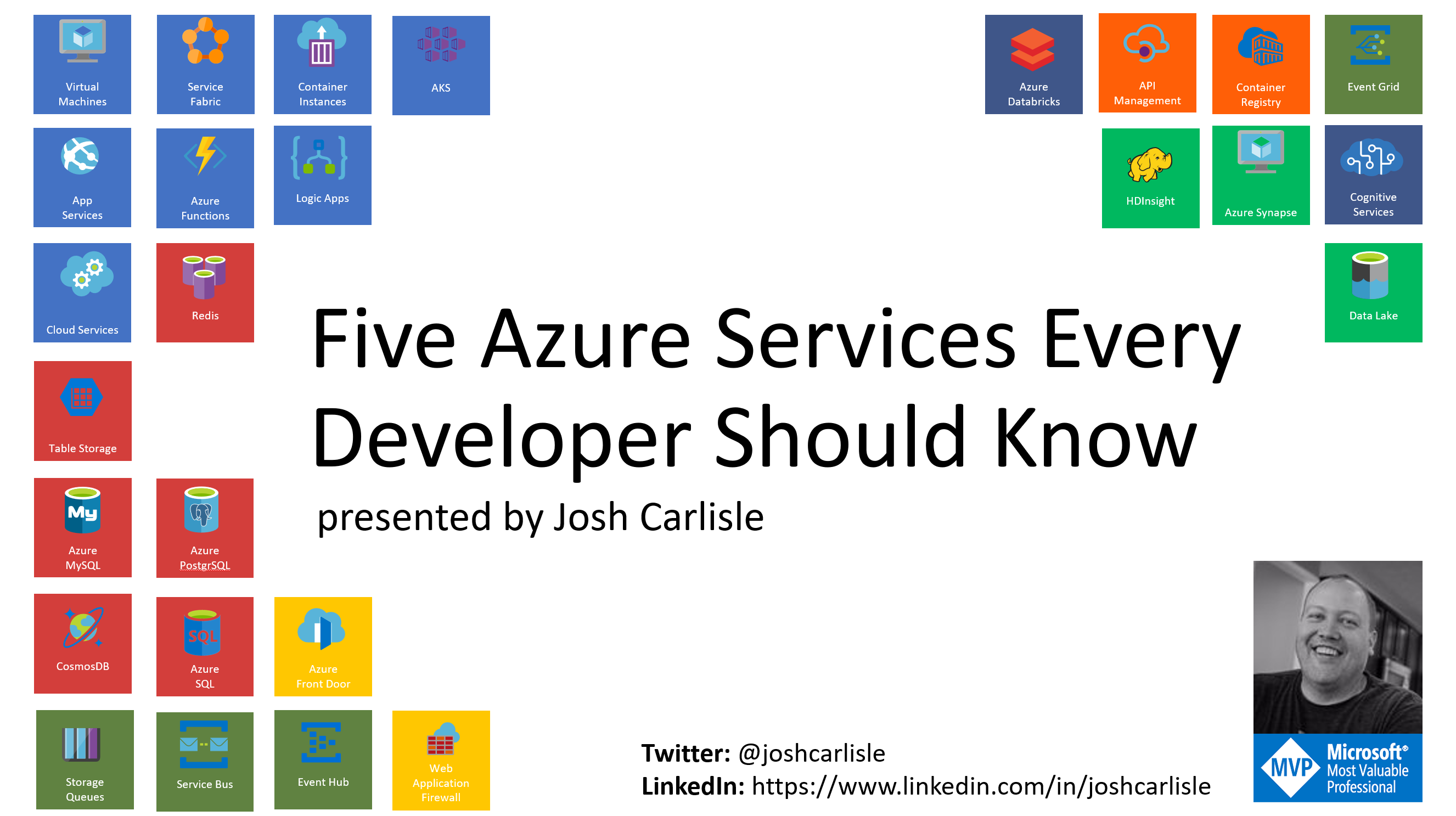 Azure In Atlanta - 5 Azure Services Every Developer Should Know